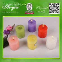 7,5 * 7,5 Candela pilastro Tearless multicolore con fragranza