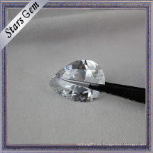 Brillante, brillante, corte, blanco, cubic zirconia, gema, piedra preciosa