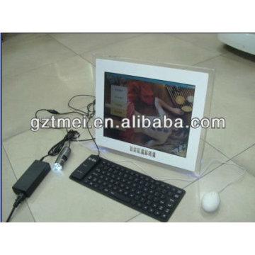 La más nueva máquina profesional del analizador de la piel con el teclado
