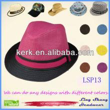 2013 Latest Graceful Panama Female 100% Paper Straw Hat,LSP13