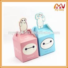 Caixa de série animada de desenhos animados, caixa de presente de papel de maçã popular de itens de presente baratos