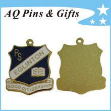 Insignia de medalla de metal en miniatura con cloisonné suave (badge-223)