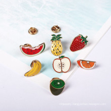 Set Lovely Fruit Brooch Pineapple Strawberry Kiwi Watermelon Orange Apple