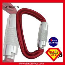 Carabiner de alumínio pequeno personalizado para montanhismo