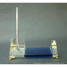 кристаллический держатель ручки с золотой мозаика для украшения стола