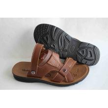 Bonne qualité des chaussures de plage pour hommes avec dessus en cuir (SNB-14-013)