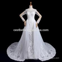 Vestido De Noiva Vestido de noiva de renda longa com Long Tail Luxo Robe De Marriage Marriee