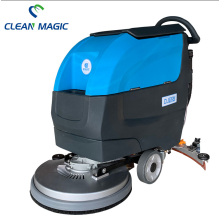Hand Pushing Supermarket Floor Cleaning Auto Scrubber