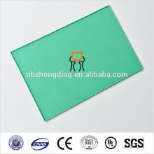 зеленый цвет листа поликарбоната/панель зеленый лист поликарбоната
