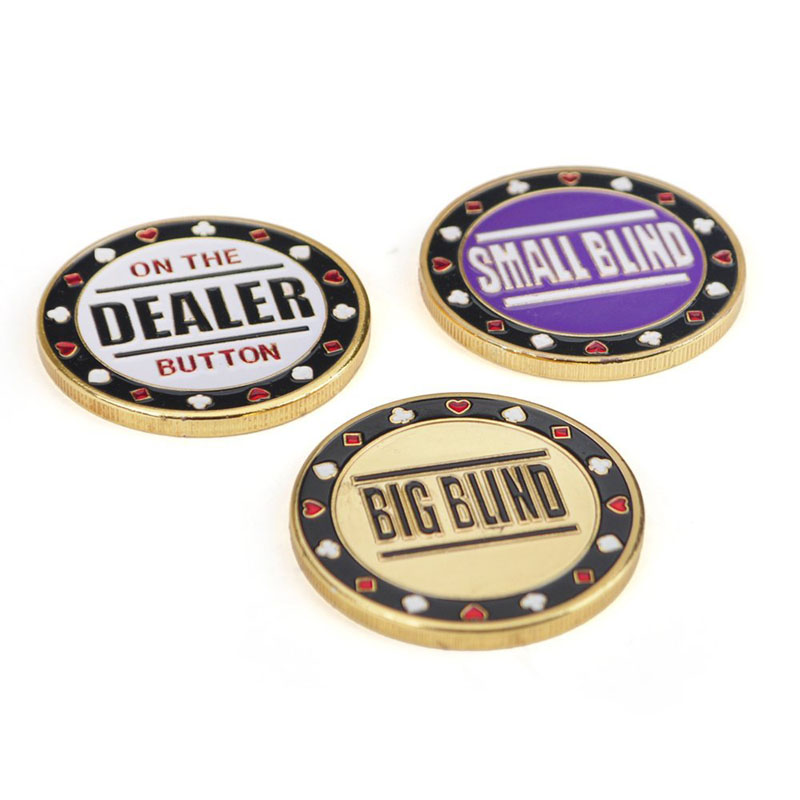 Chip Poker Metal Buttons