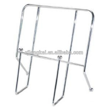 supermarket shopping mall retail chrome plated metal cook book stand