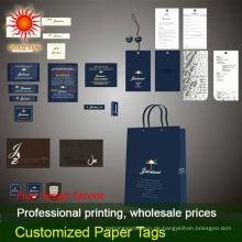 Fluggesellschaft Papier Gepäckanhänger