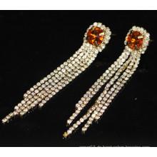 Art- und Weiseheiße Verkaufs-Brautlange hängende Rhinestone-Bolzen-Ohrringe