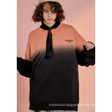 Fashion Casual Stitching Hoodies sweatershirt for girl
