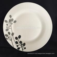 chinesische Keramikplatte, Linyi Porzellanplatte, Platte aus weißem Porzellan