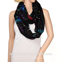 Whosale top fashion infinity scarf winter 2015 printing loop scarf