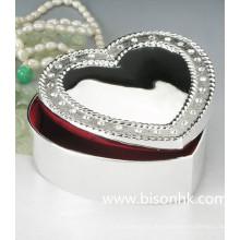 Großhandelsart und weisesilber-Schmucksache-Kasten, süßer Herz-Metallschmucksache-Kasten