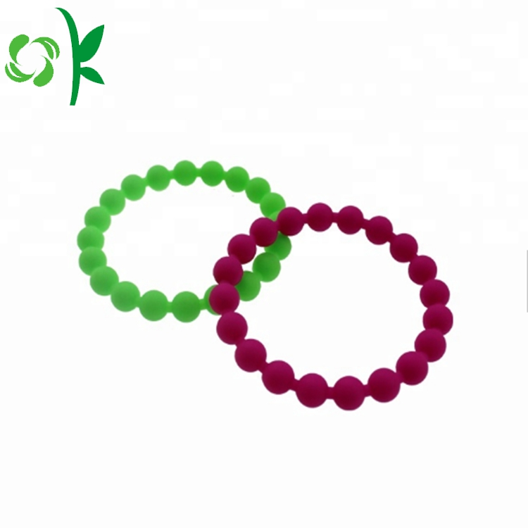 Green Silicone Bead Wristbands