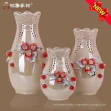 high quality on-glazed ceramic vase for home ornament