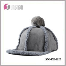 2015 Sweet Girls Hiphop Sombrero de peluche de peluche bola plana con borde Cap (SNMXM022)