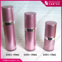 15ml Sample Cute Plastic Straight Round Shape Pink Beauty Cosmetic Skin Care mini plastic bottle