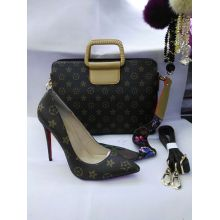 Classical High Heel Women Shoes and Matched Handbag (G-26)