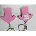 Led key chain /pvc key chain with led