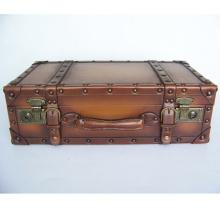 HIBO высокое качество PU кожаный чемодан старым деревянная Рамка классический винтажный чемодан