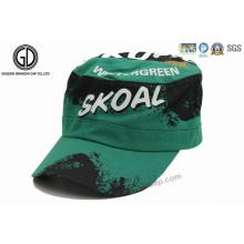 2016 Chapéu militar de moda / boné de algodão do exército com impressão Graffiti
