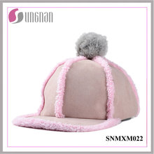 2015 Niftic Ladies Hiphop Hat Peluche de peluche bola plana con borde Cap (SNMXM022)