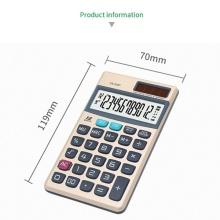 A 12 digits check pocket calculators