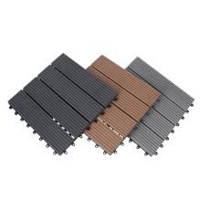 WPC Plastic Wood Composite Exterior Flooring Tile DIY Interlocking Deck Tile for Outdoor Garden Terrace