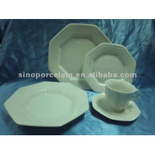 white porcelain 30pcs tableware with special shape for BS2121