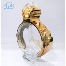 Ad-P263 Transparent Curved Glass spray Frasco de perfume
