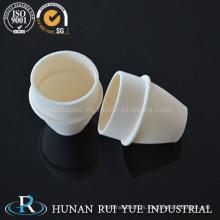 Calcia estabilizado crisol de cerámica de óxido de zirconio (ZrO2 + Cao) 99%