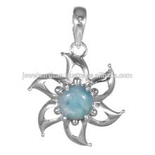 Larimar Gemstone 925 Sterling Silver Pendant Jewelry