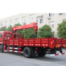 China Camión de plataforma con grúa de 8 toneladas y 10 toneladas de grúa montada sobre camión Hiab Palfinger brazo telescópico