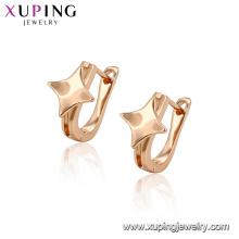 96380 xuping populaires conceptions d'or de vente chaude avec boucle d'oreille en forme d'étoile