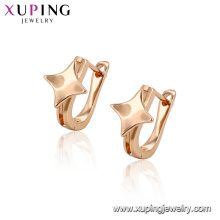 96380 xuping popular hot sell gold designs with star shape hoop earring