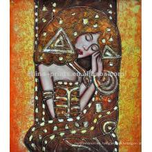 Pintura desnuda del artista de la decoración de la mujer