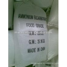 Aditivo alimentario bicarbonato de amonio como agentes de levadura