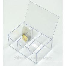 Bestnote Acryl Teebeutel Box mit Scharnierdeckel
