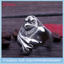 2015 nouveaux produits hawk en acier inoxydable anneau pendentifs oiseau anneau oeil mauvais anneau hommes
