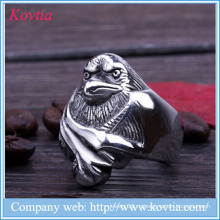 2015 новых продуктов ястреб из нержавеющей стали кольцо птица кулоны кольцо злой глаз мужчин кольцо