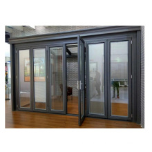 European modern design front house used aluminium exterior accordion door 12mm tempered glass door prices