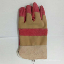China Industrial Professional Hand Safety Working Cow Split Leather Gloves