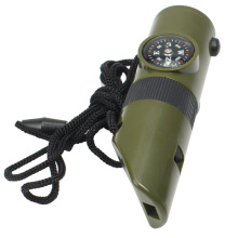 Emergency Survival Gear Whistle Compass Thermometer hiking