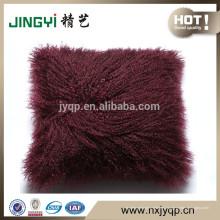Cojín Almohada Cubierta de lana de piel de oveja