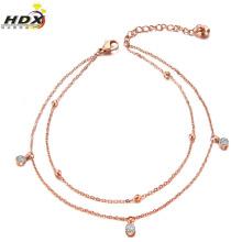 Tobilleras de joyería de moda, Joyas de acero inoxidable Pulseras de diamantes y diamantes (hdx1138)