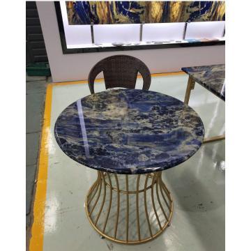Semi precious blue sodalite table
